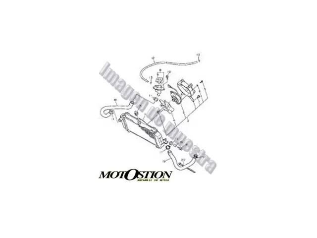 Eje rueda delantera DERBI GPR 50 2004-2005 despiece de moto