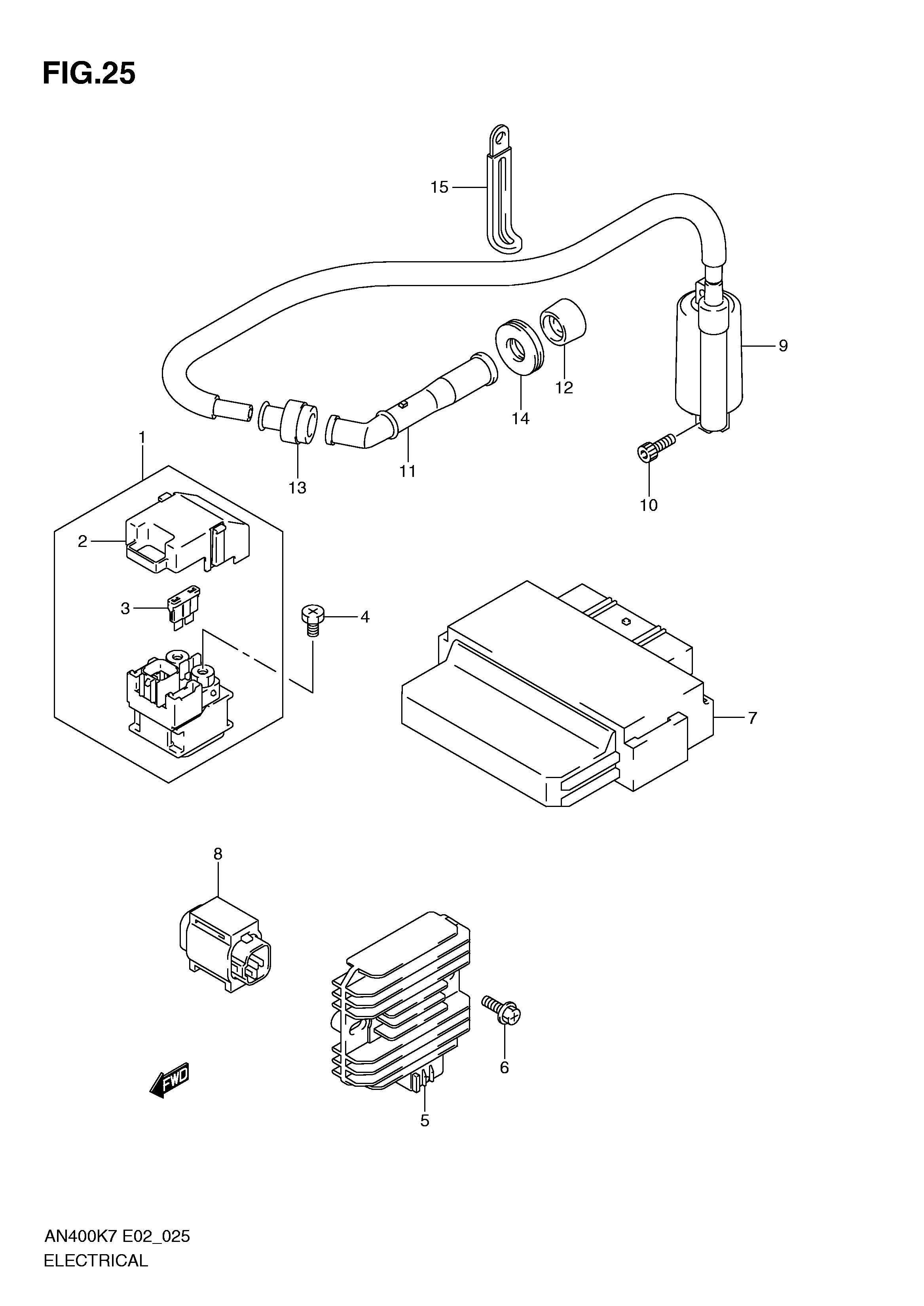 Sensor anticaida o inclinacion Suzuki burgman 400 2007-2013