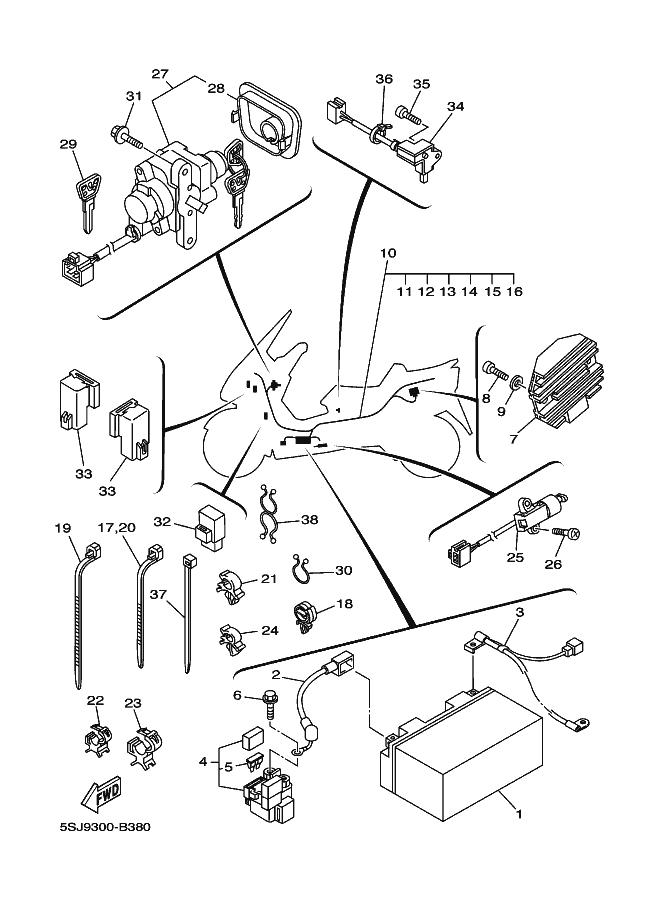 Interruptor pata de cabra Yamaha Majesty 250 2003-2006