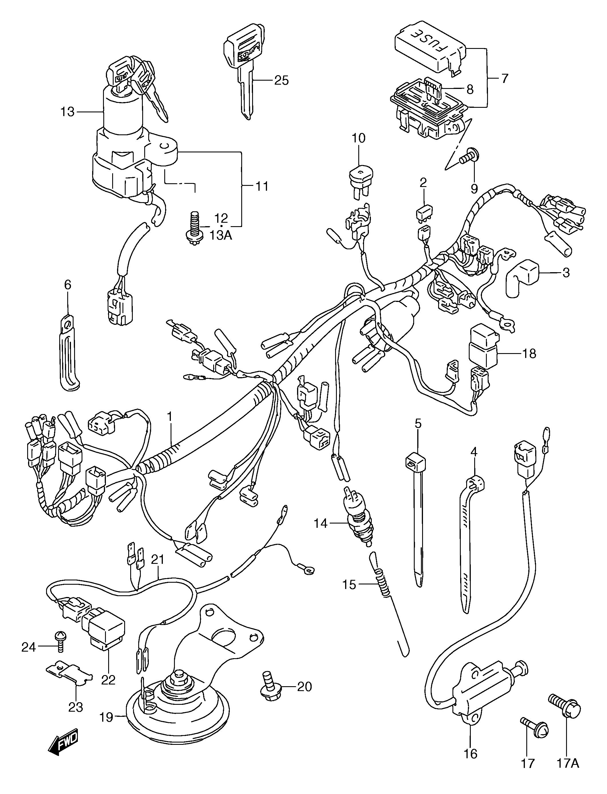 Interruptor pata de cabra Suzuki Gsx f 750 1989-1997