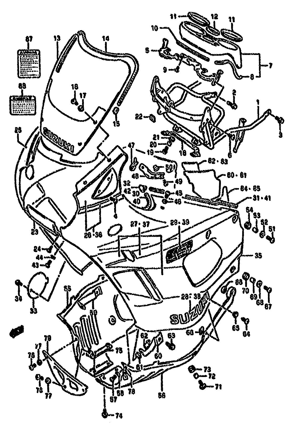 Cupula Suzuki Gsx f 750 1989-1997