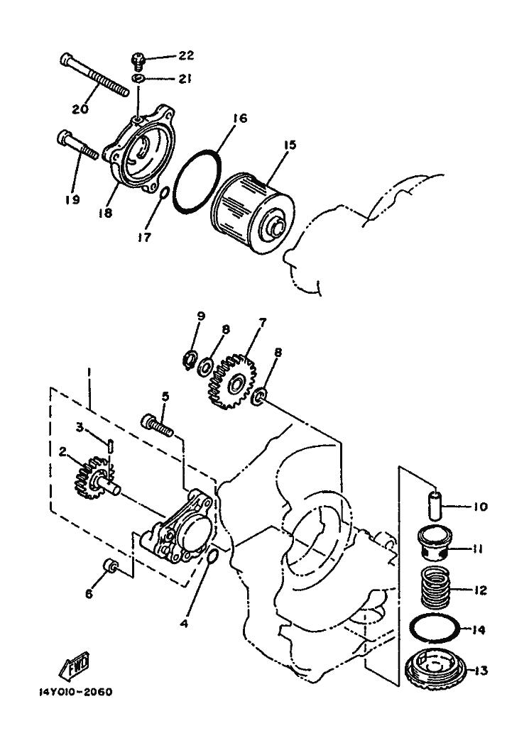 Bomba aceite Yamaha Sr 250 1980-1989