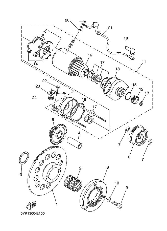 Motor arranque Yamaha Mt 03 660 2006-2008