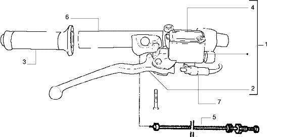 Bomba freno delantero Gilera Dna 50 2000-2007