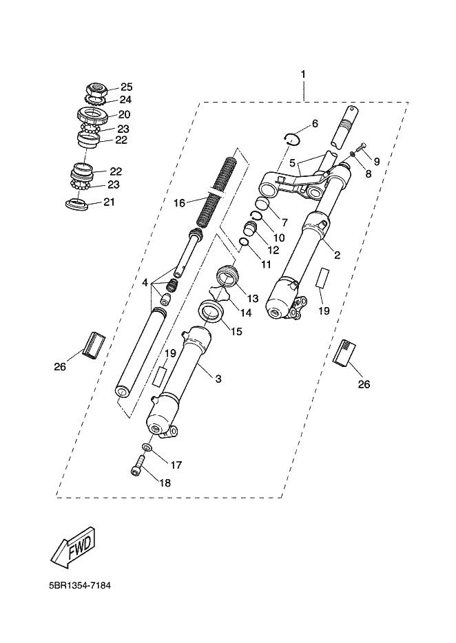 Barra completa derecha Yamaha Aerox 50 1997-2006