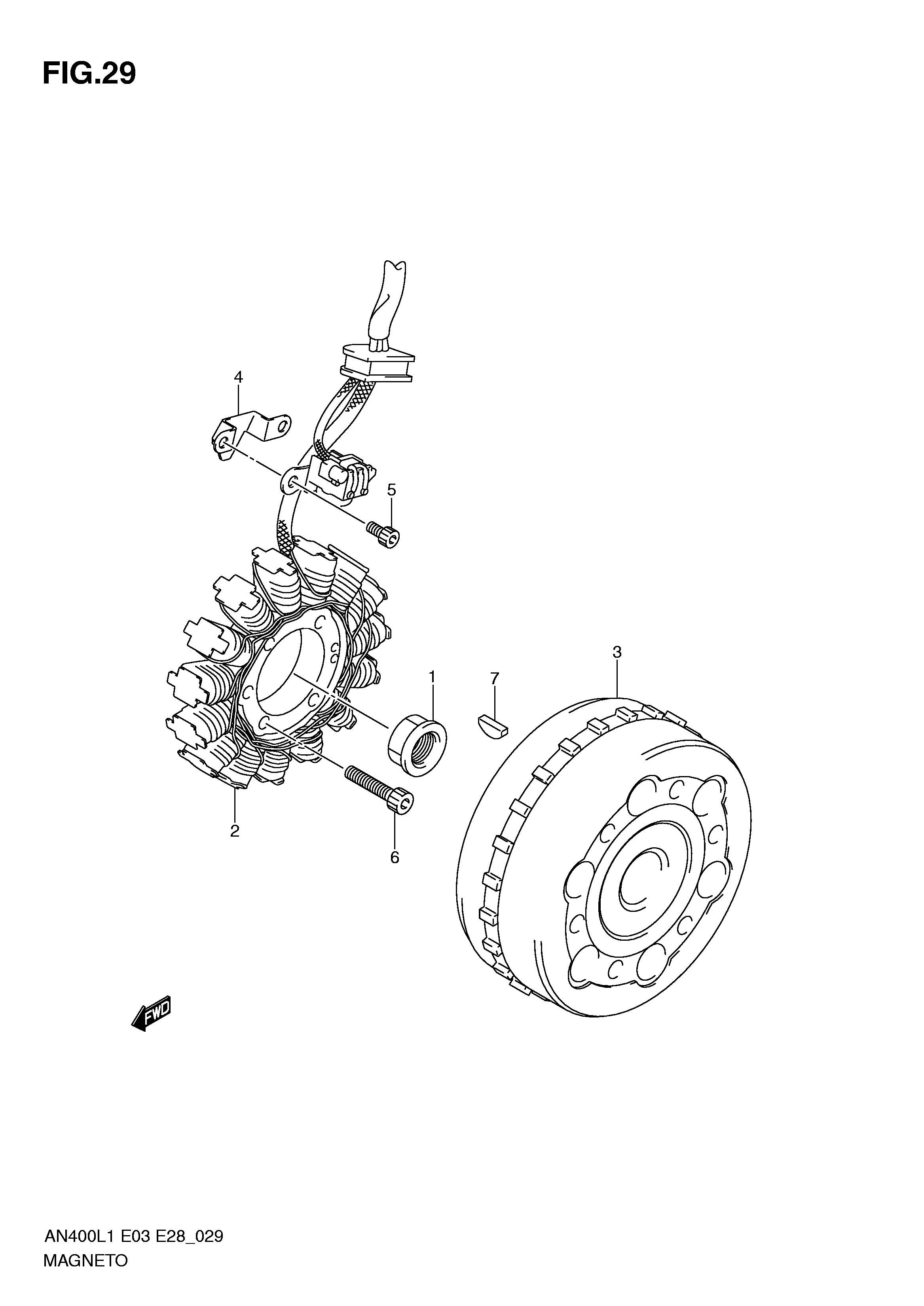 Stator assy, magneto Suzuki Burgman 400 2007-2013