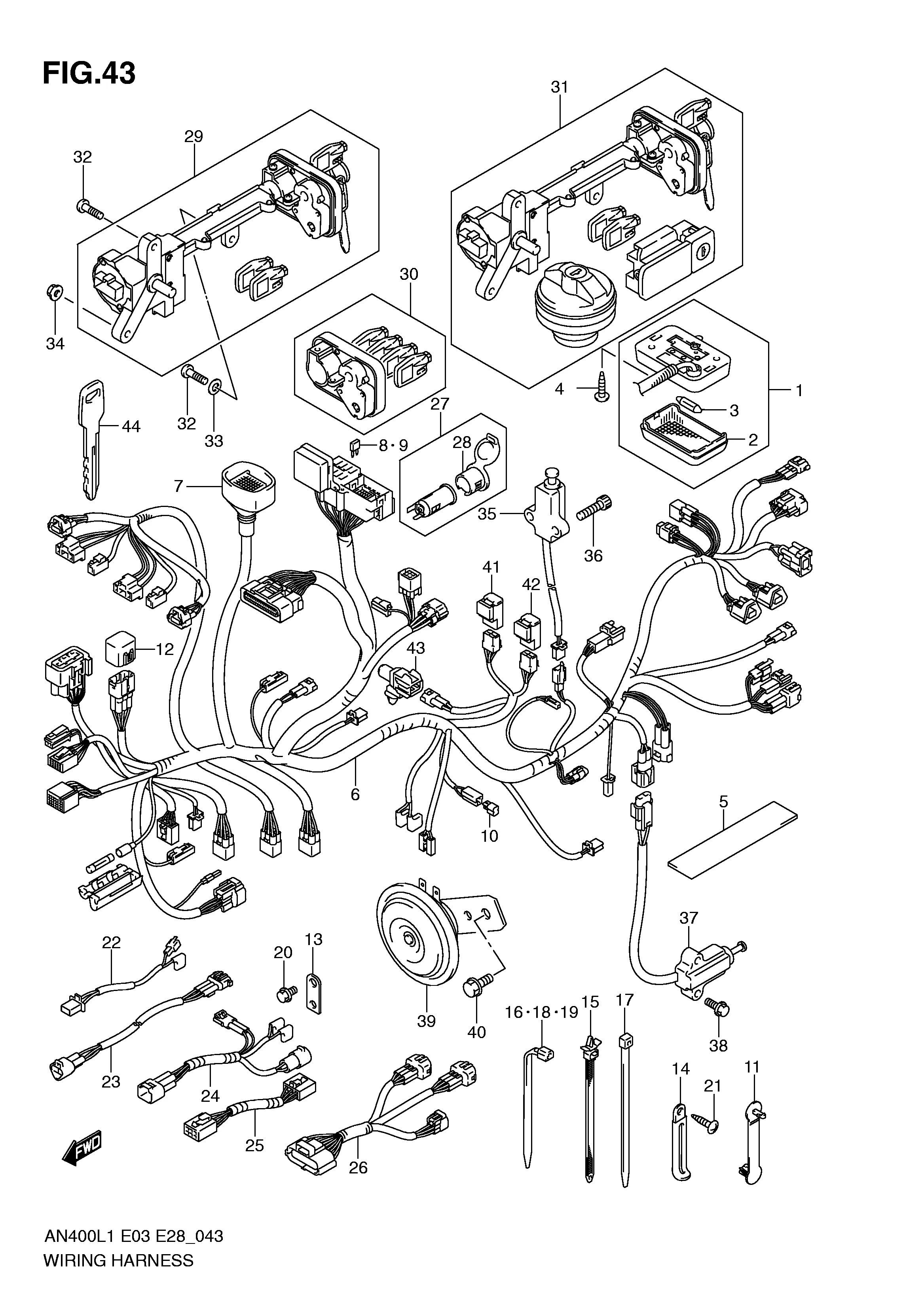 Sistema electrico completo abs Suzuki Burgman 400 2007-2013