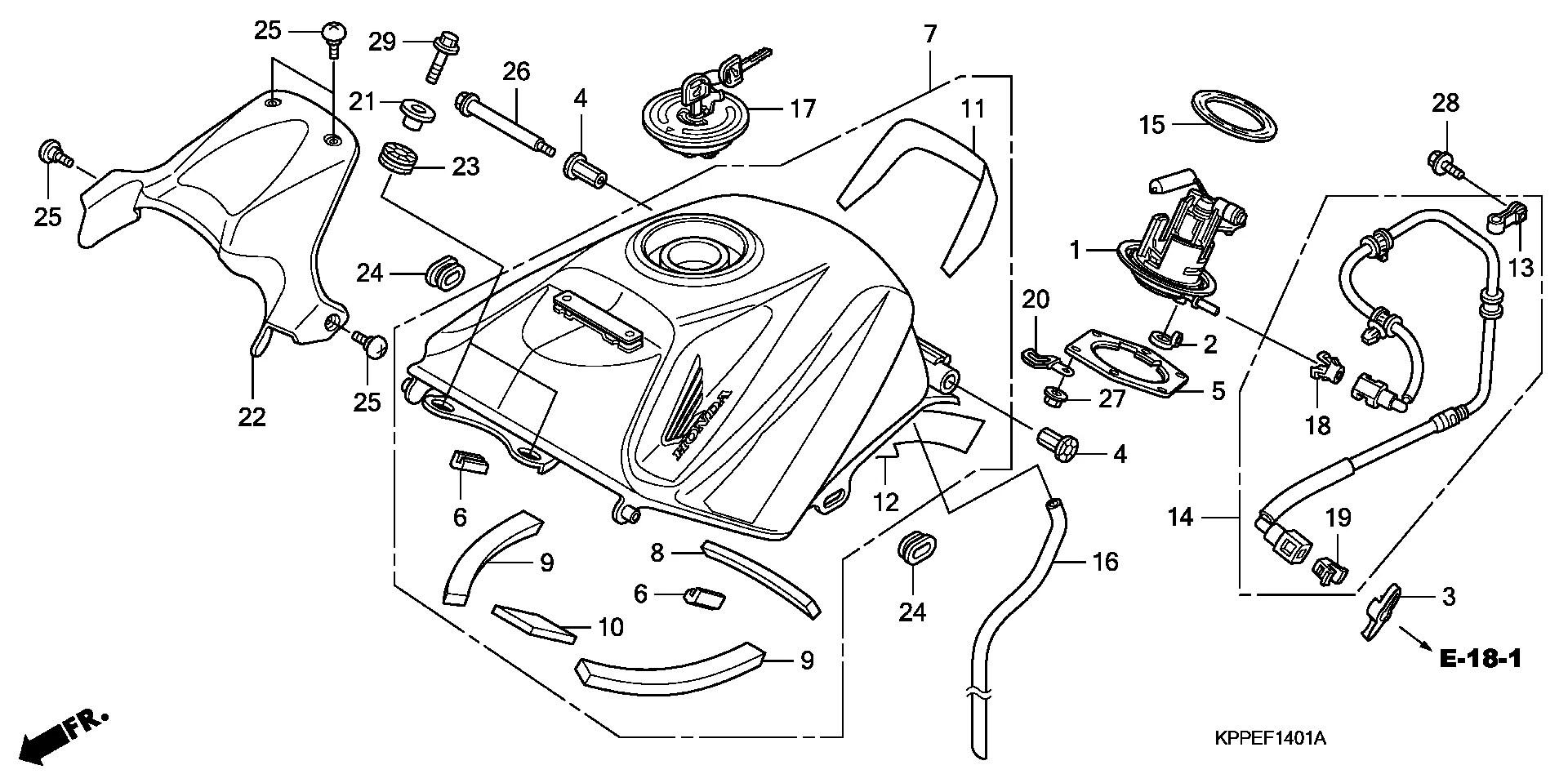 Tapon De Gasolina Honda Cbr R 125