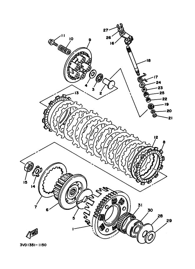 Embrague completo del motor Yamaha Tdm 850 1991-1995
