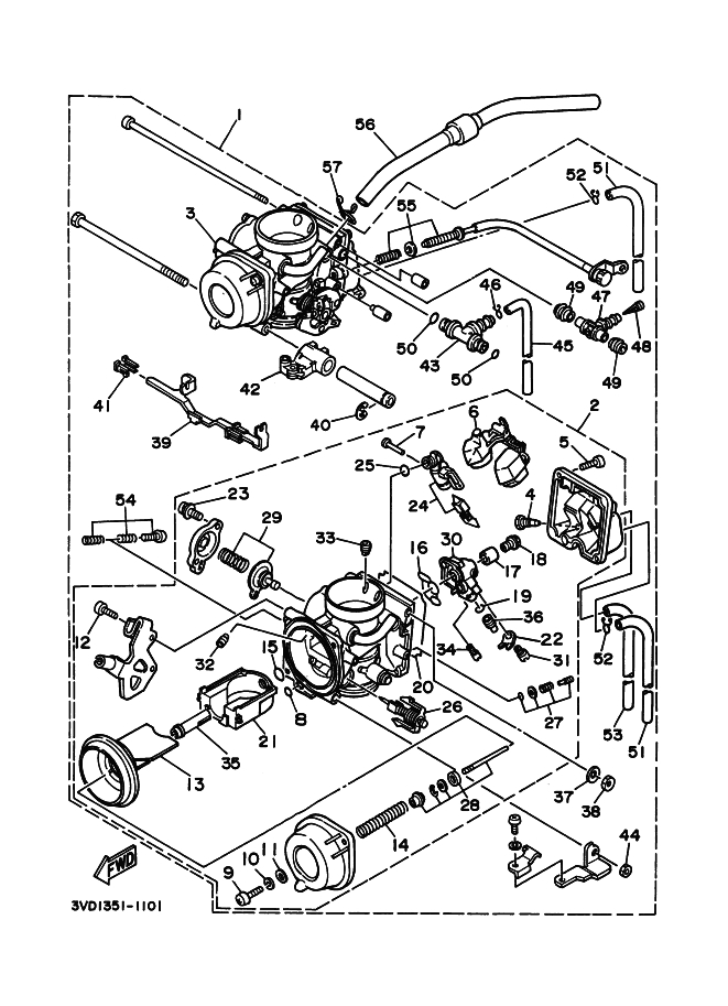 Bateria carburadores Yamaha Tdm 850 1991-1995