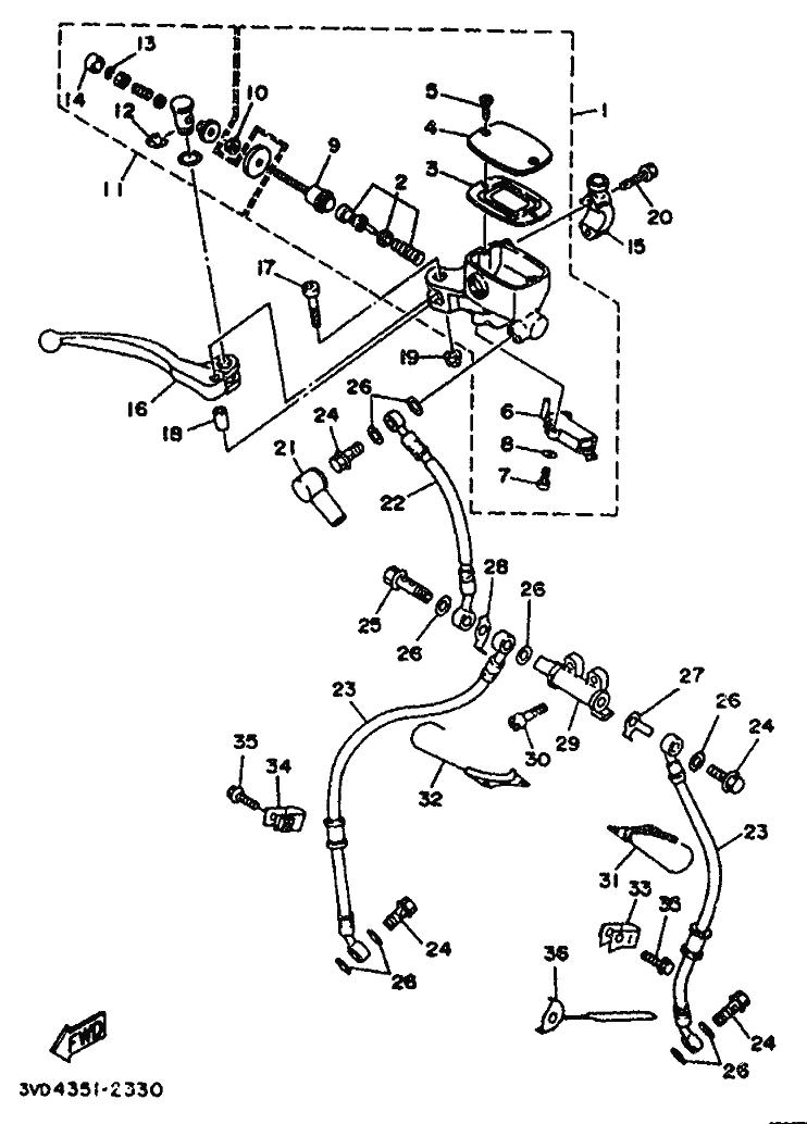 Bomba freno delantero Yamaha Tdm 850 1991-1995