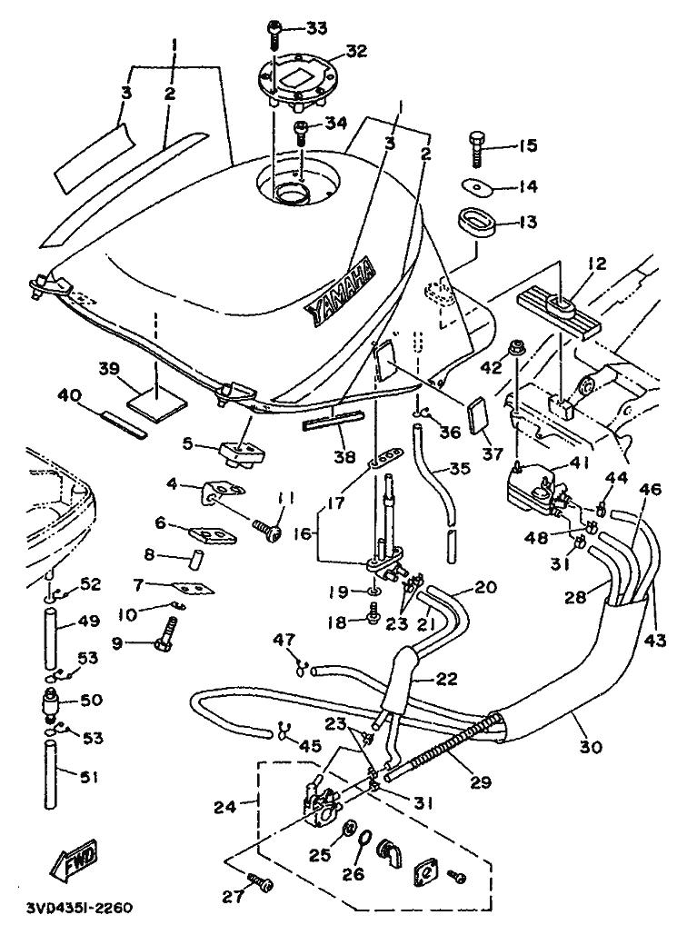 Grifo gasolina Yamaha Tdm 850 1991-1995
