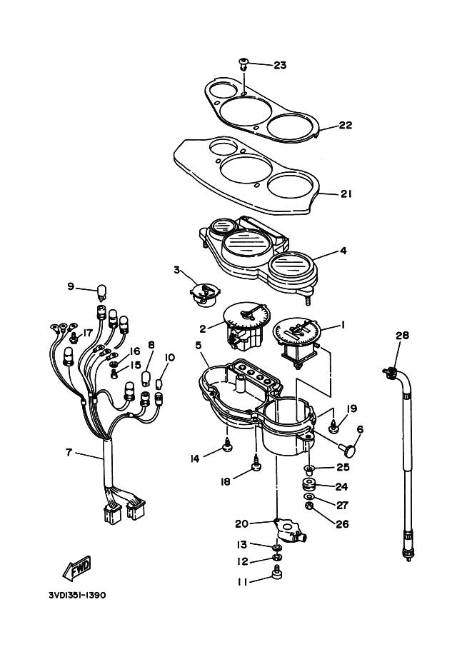 Cable cuenta kilometros Yamaha Tdm 850 1991-1995