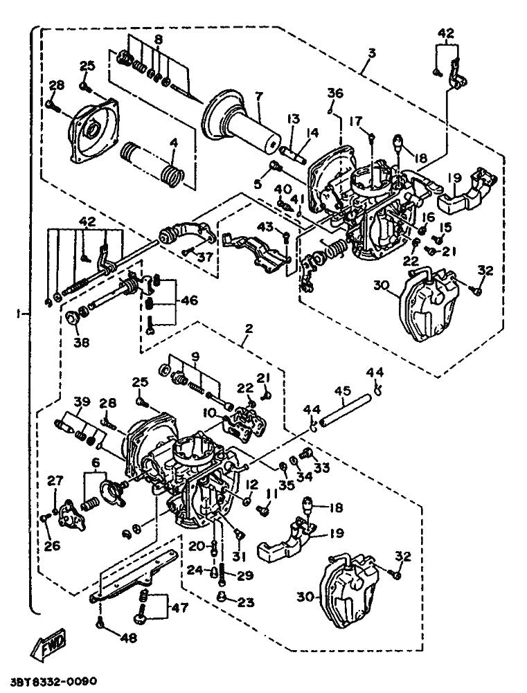 Batería carburadores Yamaha Virago 535 1988-1995