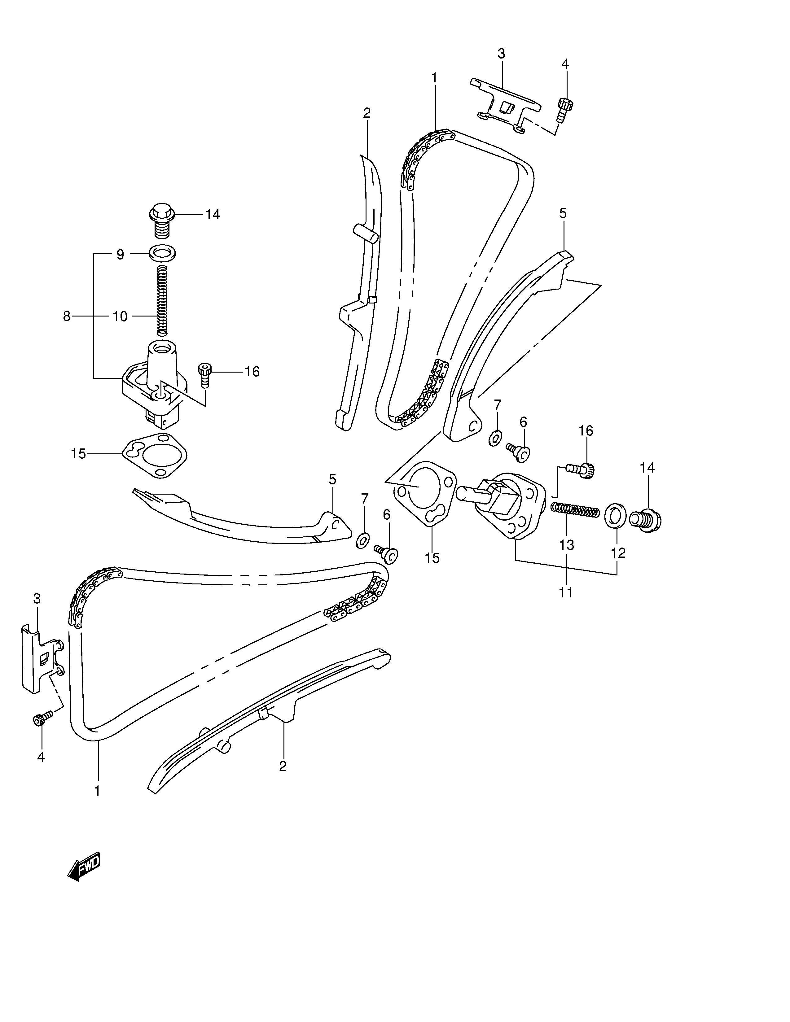 Tensor de cadena de distribucion Suzuki V strom 650 2004-2006