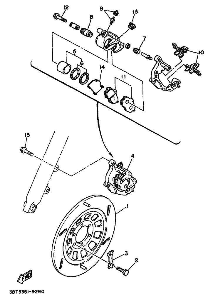 Disco freno delantero Yamaha Virago 535 1988-1995