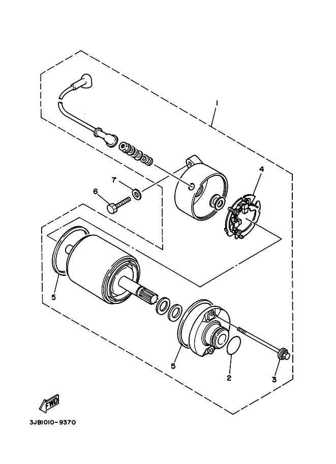 Motor de arranque Yamaha Virago 535 1988-1995