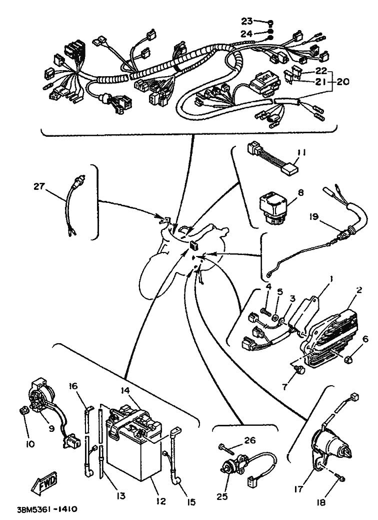 Sistema electrico completo Yamaha Virago 535 1988-1995