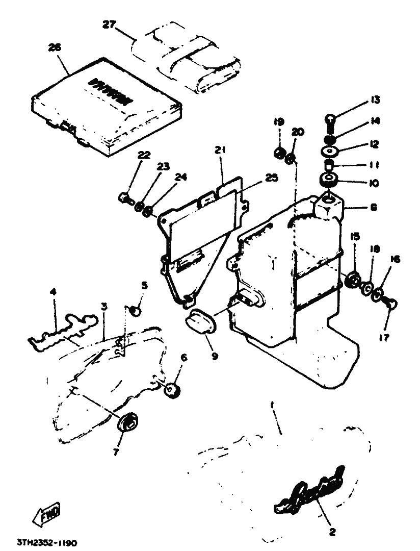 Caja porta batería Yamaha Sr 250 1980-1989