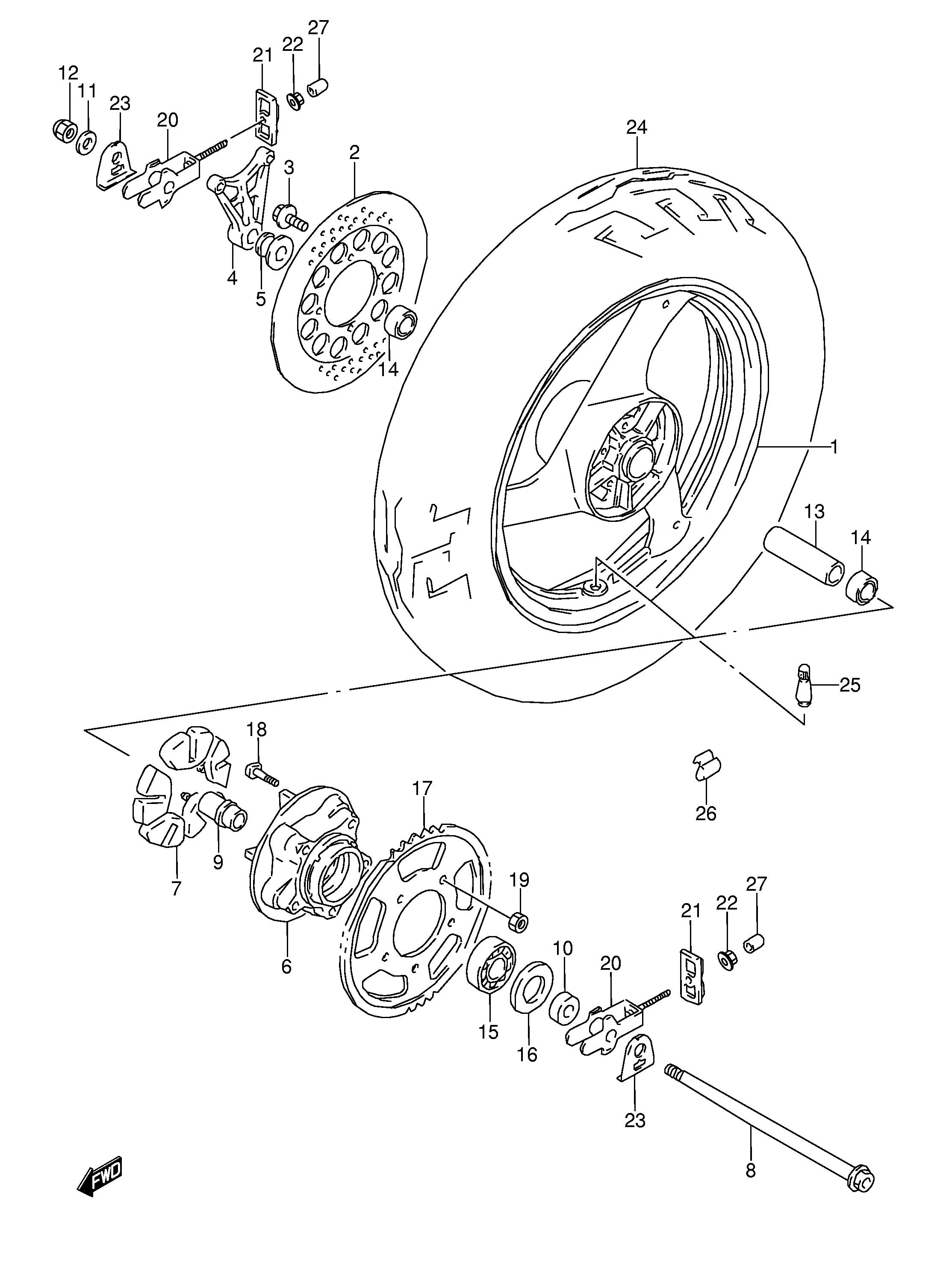 2003 Suzuki Gz250 Complete Wiring Harness Diagram