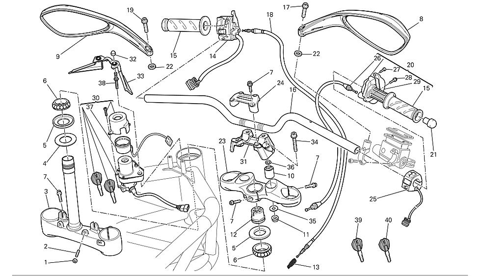 Torretas de manillar Ducati Monster 696 2008-2011
