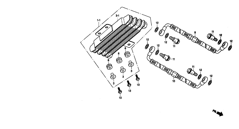 Radiador aceite modelo 2 Daelim Ns 125 1999-2002