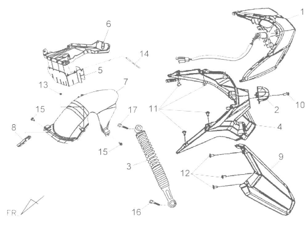 Amortiguador Sym Jet 4r 125 2013-2015