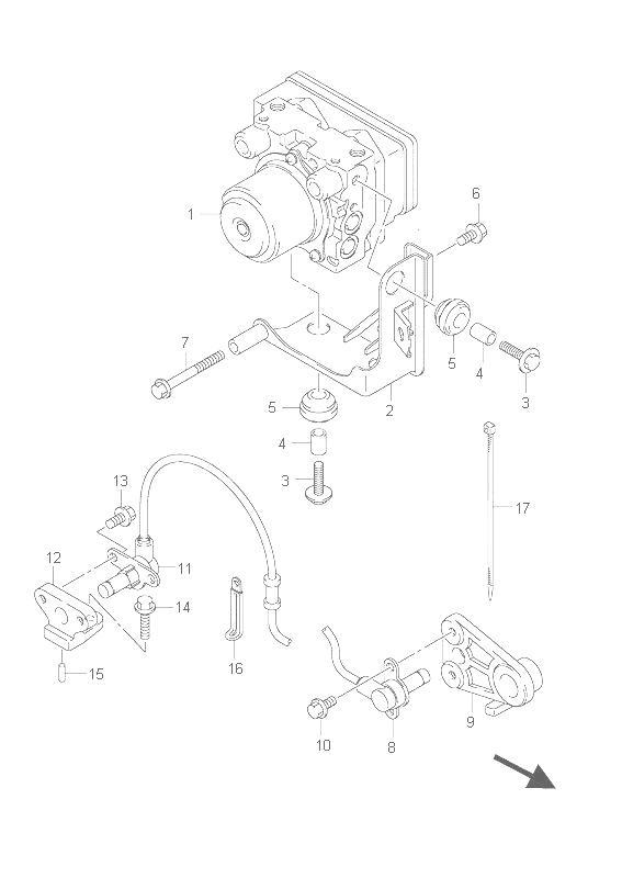 Sensor abs trasero Suzuki Burgman 650 2007-2012