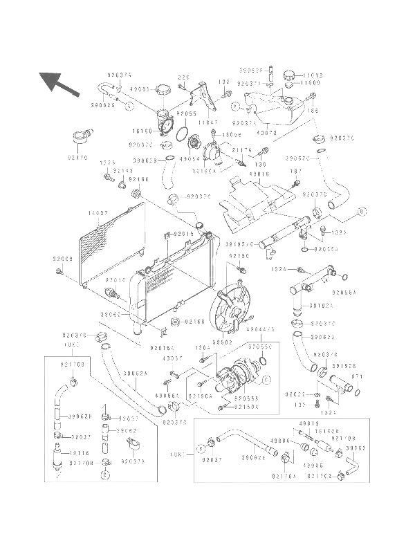 Rejilla radiador Kawasaki Zzr 600 1990-1993