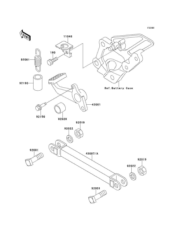 Tirante freno trasero Kawasaki Zzr 600 1990-1993