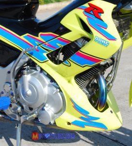 Modifikasi Suzuki Satria FU 2014 :Bodi-Disegarkan Sticker Rider R150