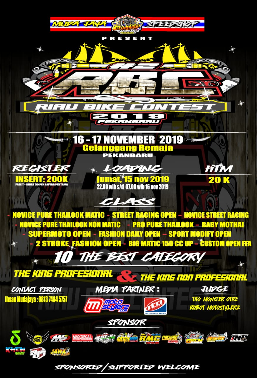 2019 November 17 RBC Riau Bike Contest 2019 - Riau