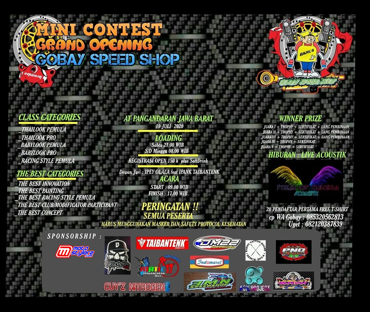 Grand Opening Gobay Speed Shop