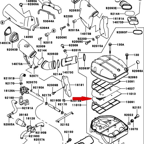 CHAMPION Воздушный фильтр Y311 для мотоциклов ZX-7R, ZX