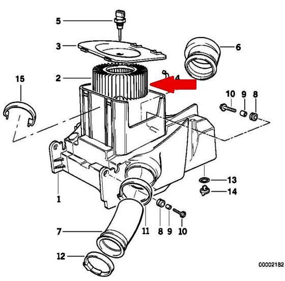 MANN C 1552 Воздушный фильтр для мотоциклов BMW R850