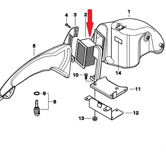 HFA7601 Воздушный фильтр для мотоциклов BMW F650GS, G650GS