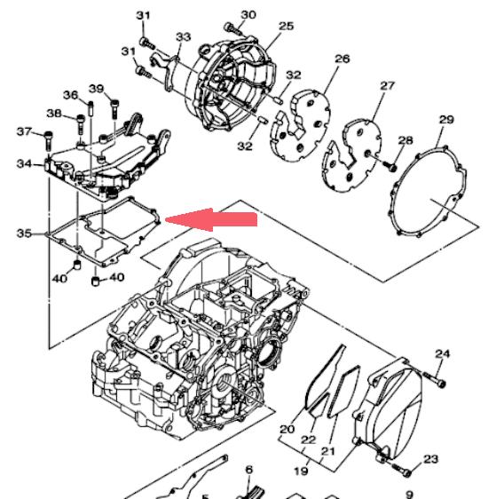 ATHENA Прокладка крышки генератора TDM900 в магазине