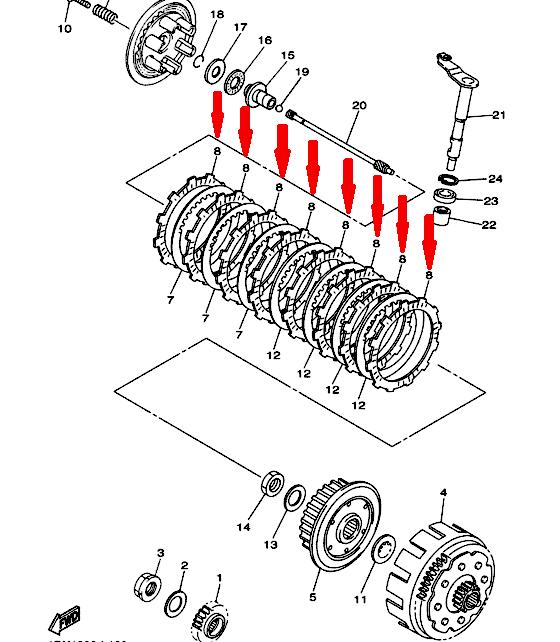 TRW Комплект фрикционных дисков сцепления MCC423-8 в