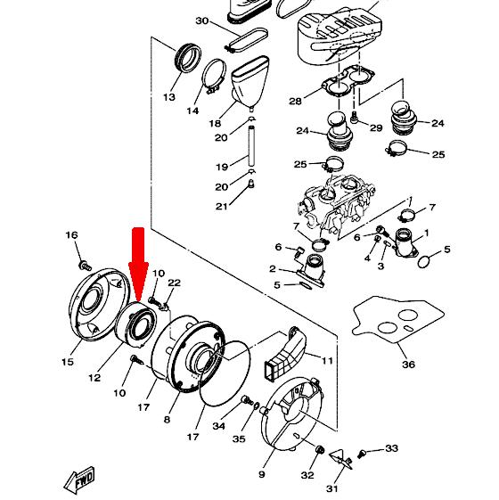 CHAMPION Воздушный фильтр V308 для мотоциклов XVS400