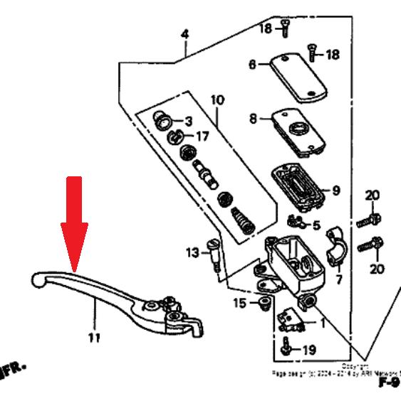 HONDA Рычаг тормоза 53170-MEW-305 в магазине мотозапчастей