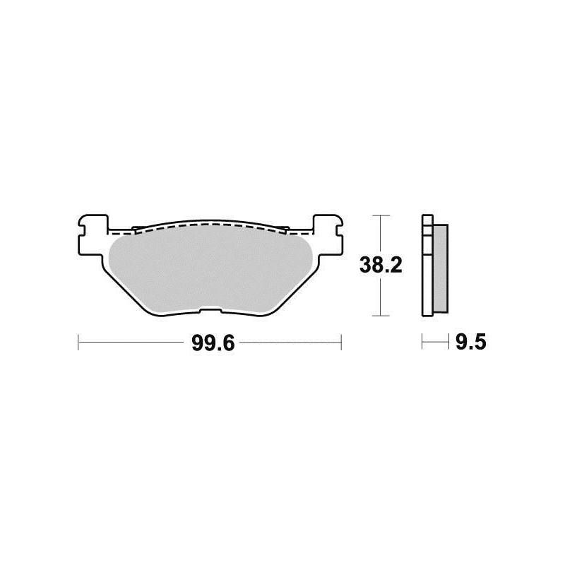 Pastiglie Freno Posteriore per Hyosung GV-Aquila-GV-Custom