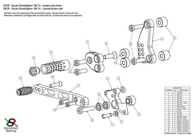 Bonamici Adjustable Billet Rearsets: Ducati Scrambler