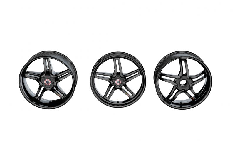 BST RAPID TEK Carbon Fiber 5 SPLIT SPOKE WHEEL SET: Ducati