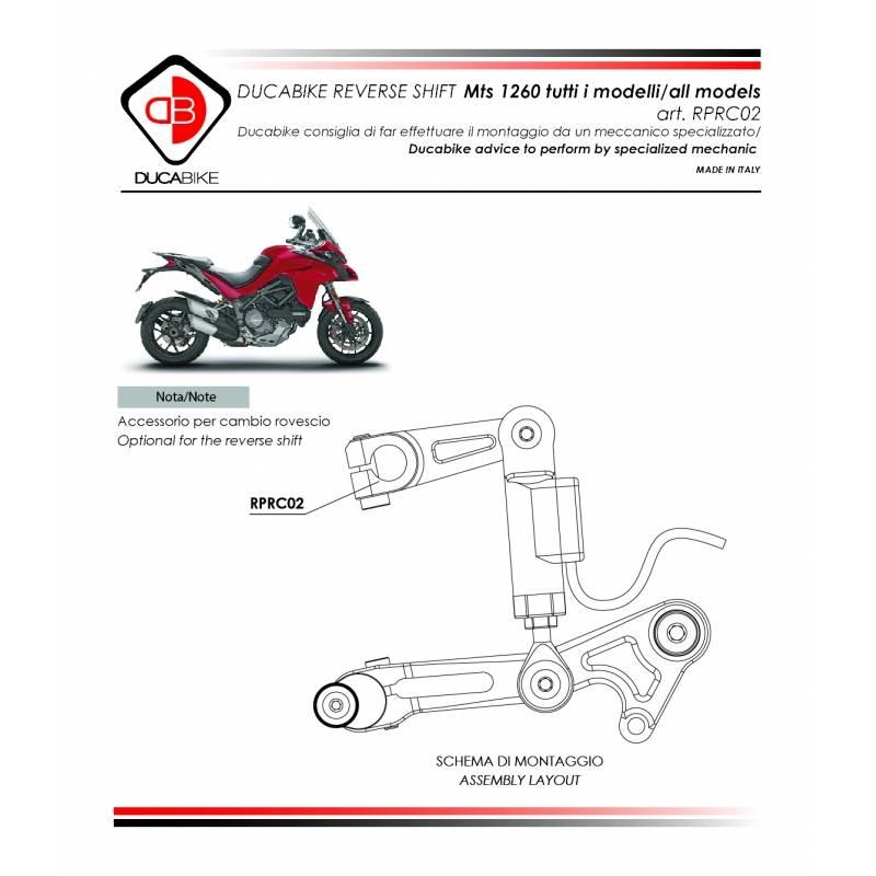 Ducabike Billet Reverse Shift Lever Support: Ducati