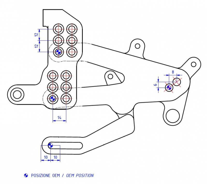 CNC Racing Special Edition Billet Rearsets: Ducati