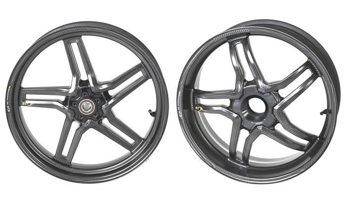 BST RAPID TEK Carbon Fiber 5 SPLIT SPOKE WHEEL SET: Ducati