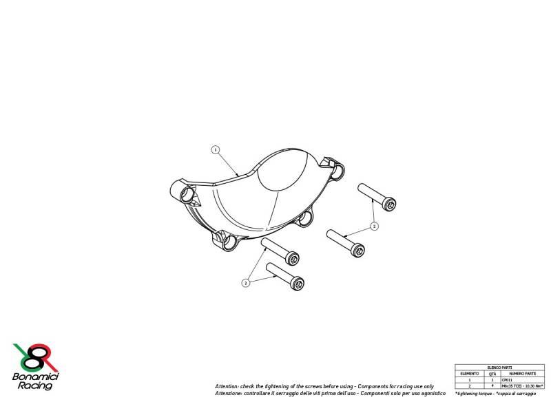Bonamici Billet Aluminum Case Saver: Kawasaki Ninja ZX-10R/RR
