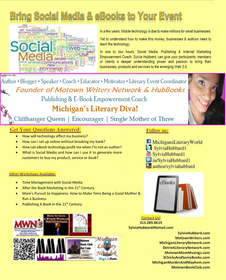 Bring Social Media & Ebooks to Your Event in 2016 & 2017  #motownlit