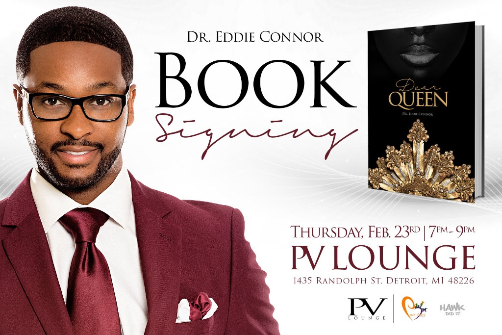 """Save The Date:  """"Dear Queen"""" book signing @EddieConnorJr #MichLit #Motownwriters #MotownLit Feb 23rd #Detroit"""