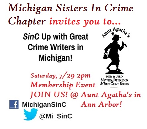 Meet&greet other mystery/suspense/crime writers @ the 1st Michigan Sisters/Misters in Crime Event on July29, 2pmAunt Agatha's #AnnArbor via @MI_SinC